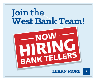 West Bank is hiring
